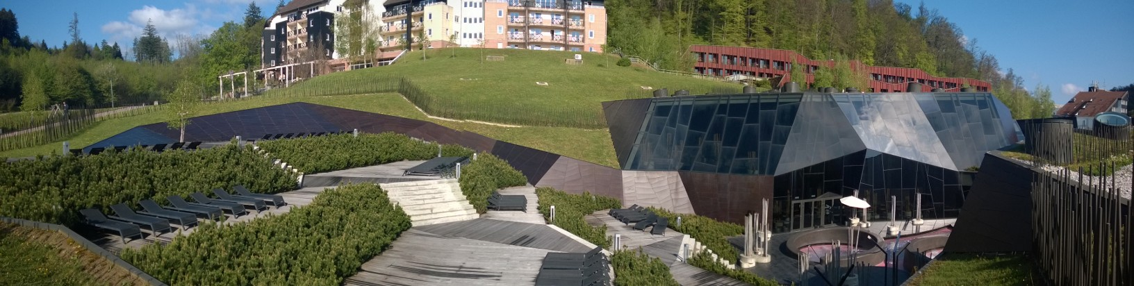 Spa-komplekset Terma Olivia hvor alle deltakerne bodde.